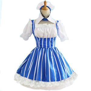 Traditional House Maid Costume, French Maide Costume, 2 Piece Maiden Cosplay Costume, Black and White Maid Costume, Halloween Maid Cosplay Adult Costume, Medieval Pastoral Outfit, #N21269