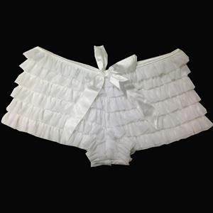Ruffle Panty, White Ruffle Panty, Sexy Frilly Panty, #N7973