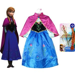Princess Anna Costume, Cosplay Frozen Clothing, Disney Cosplay Anna Frozen Dress, #N8470
