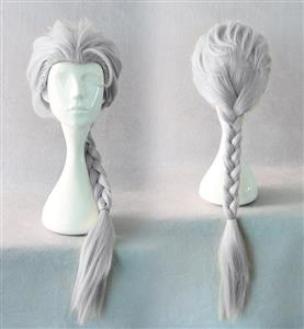 Frozen Elsa Wigs, Disney Princess Elsa Wigs, Snow Queen Elsa Wig, Weaving Braid Cosplay Wig, #MS7972