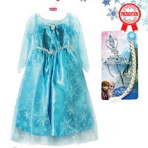 Elsa Frozen Costume, Frozen Princess Elsa Costume, Disney Frozen Princess Elsa Dress, #N8471