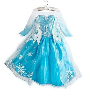 Frozen Princess Elsa Costume, Blue Frozen Elsa Dress, Disney Princess Dress, #N8570