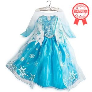 Frozen Princess Elsa Costume, Blue Frozen Elsa Dress, Disney Princess Dress, #N8570