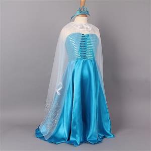 Frozen Inspired Princess Elsa dress,  Frozen Elsa Dress, Frozen Princess Elsa Dress With Cape, #N8511