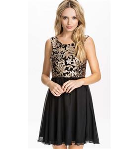 Fashion Girls Mini Dress, Cheap Black Chiffon Dress, Lady Party Dress, Summer Dresses, Little Black Dresses, Casual Dress, #N10137