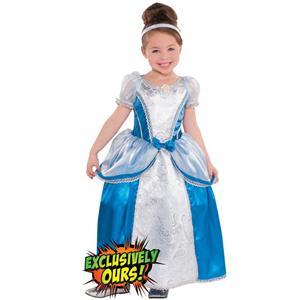 Girls Classic Cinderella Costume, Girls Cinderella Costume, Cinderella Costumes, #N4581