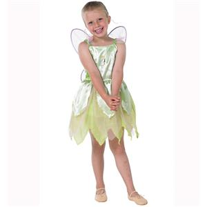 Girls Classic Tinkerbell Costume, Tinker Bell Classic Child Costume, Kids Tinkerbell Costume, #5964