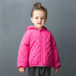 Girls Classic Hooded Quilted jacket, Girls Down Jacket, Winter Clothing for Girls, Winter Coat for Girls, #N12336