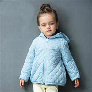 Girls Classic Hooded Quilted jacket, Girls Down Jacket, Winter Clothing for Girls, Winter Coat for Girls, #N12337
