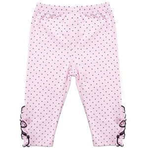 Girls Polka Dot Print Lace Trim Leggings, Girls Fall Clothing, Leggings for Girls, Girls Pants,  #N12238