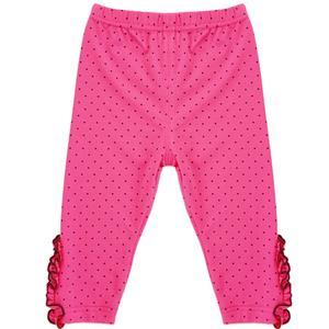Girls Polka Dot Print Lace Trim Leggings, Girls Fall Clothing, Leggings for Girls, Girls Pants,  #N12239
