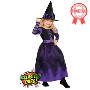 Purple Witch Costume Girls, Witch Girls Costume, Pretty Potion Witch Costume Girls, #N5757