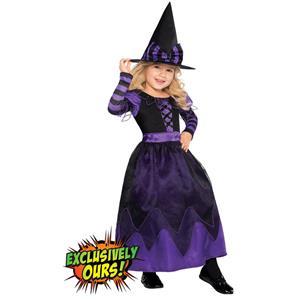 Purple Witch Costume Girls, Witch Girls Costume, Pretty Potion Witch Costume Girls, #N5757