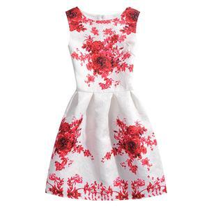 Girls Lovely Vintage Dress, Fashion Girls Clothing, Vintage Dress for Girls, Fall Dresses for Girls, Sleeveless Mini Dress for Girl