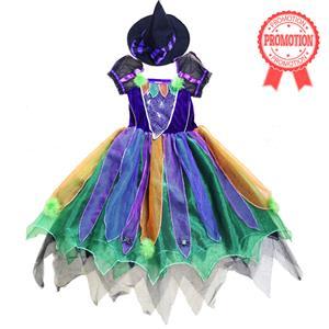 Girls Witch Costume, Child Rainbow Glitter Witch Costume, Girls or Toddler Glitter Witch Costume, #N5922