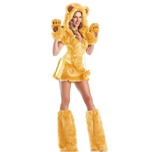 Golden Bear Beauty Costume, Sexy Bear Costume for Women, Furry Costume, Teddy Bear Costume for Women, #N6103
