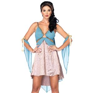 Golden Goddess Costume, Blue Goddess Costume, Female Goddess Costume, Daily Wearable Goddess Dress, Elegant Goddess Costume, Courtlike Goddess Dress#N5944