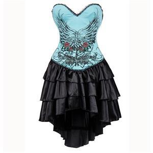Burlesque Queen Costume, Burlesque Costume, Burlesque Halloween Costume, Black Corset Dress, Burlesque Corset Satin Dance Dresses, Gothic Corset Dress, #N15304