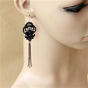 Retro Alloy Earrings, Gothic Style Earrings, Fashion Earrings for Women, Vintage Earrings, Casual Earrings, Vicorian Gothic Earrings, Fashion Lace Earrings, #J18427