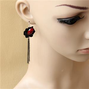 Retro Alloy Earrings, Gothic Style Earrings, Fashion Earrings for Women, Vintage Earrings, Casual Earrings, Vicorian Gothic Earrings, Fashion Lace Earrings, #J18426