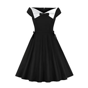 Gothic Style A-line Swing Dress, Retro Dresses for Women 1960, Vintage Dresses 1950