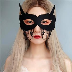 Halloween Fox Masks, Costume Ball Masks, Masquerade Party Mask, Adult and Child Mask, Gothic Sexy Eye Mask, Animal Masks, Halloween Devil Cospaly Mask, Anime Cosplay Mask, #MS21443