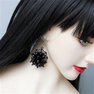 Retro Gothic Black Earrings, Gothic Style Dangler, Fashion Black Earrings for Women, Vintage Eardrops, Casual Earrings, Victorian Gothic Black Earrings, Fashion Earrings, #J20107
