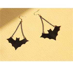Retro Alloy Earrings, Gothic Style Earrings, Fashion Black Bat Earrings for Women, Vintage Black Bat Earrings, Casual Alloy Earrings, Victorian Gothic Eviil Black Bat Earrings, Fashion Black Bat Earrings, #J18432