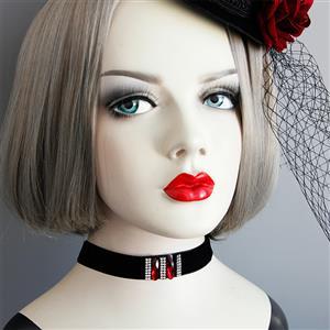 Vintage Style Necklace, New Gothic Necklace, Gem Necklace, Lace Necklace, Cheap Punk Chocker, Victorian Necklace for Women, #J18803