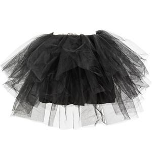 Black Tutu Skirt,  Tulle Layering Skirts, Gothic Tutu Swing Skirt, #HG8272