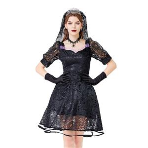 Sexy Gothic Bride Costume, Ghost Bride Role Play Costume, Classical Adult Ghost Bride Halloween Costume, Deluxe Ghost Bride Dress Costume, Vampire Bride Masquerade Costume, Gothic Vampire Bride Adult Cosplay Costume, #N20738