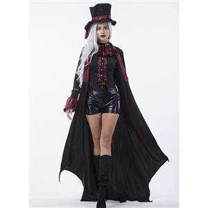 Deluxe Dark Webbed Mistress Costume, Deluxe Vampire Costume, Sexy Dark Vampire Costume, Vampire Masquerade Costume, Women