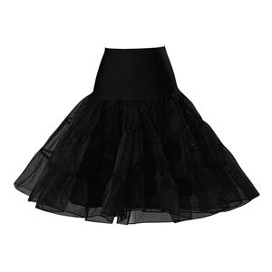 Sexy Black Skirt Petticoat, Fashion Black Skirt, Cheap Ladies Tulle Petticoat, Party Dress Petticoat, Plus Size Petticoat, #HG11261