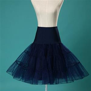 Sexy Dark-blue Skirt Petticoat, Fashion Dark-blue Skirt, Cheap Ladies Tulle Petticoat, Party Dress Petticoat, Plus Size Petticoat, #HG11260