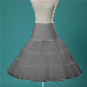 Sexy Grey Skirt Petticoat, Fashion Grey Skirt, Cheap Ladies Tulle Petticoat, Party Dress Petticoat, Plus Size Petticoat, #HG11291