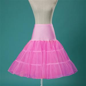 Sexy Pink Skirt Petticoat, Fashion Pink Skirt, Cheap Ladies Tulle Petticoat, Party Dress Petticoat, Plus Size Petticoat, #HG11252