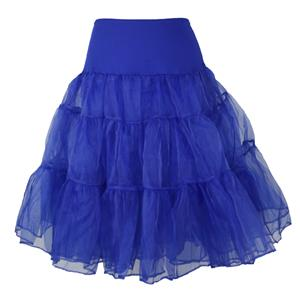 Sexy Royalblue Skirt Petticoat, Fashion Royalblue Skirt, Cheap Ladies Tulle Petticoat, Party Dress Petticoat, Plus Size Petticoat, #HG11264