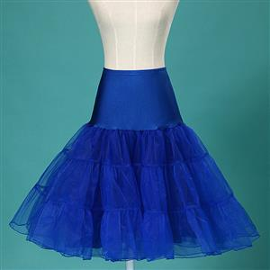Sexy Royalblue Skirt Petticoat, Fashion Royalblue Skirt, Cheap Ladies Tulle Petticoat, Party Dress Petticoat, Plus Size Petticoat, #HG11264