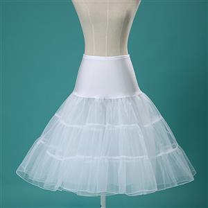 Sexy White Skirt Petticoat, Fashion White Skirt, Cheap Ladies Tulle Petticoat, Party Dress Petticoat, Plus Size Petticoat, #HG11251
