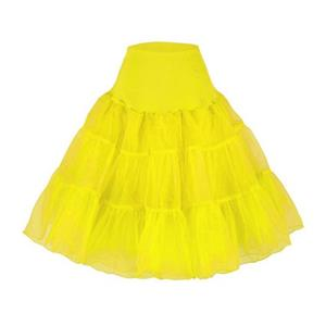 Sexy Yellow Skirt Petticoat, Fashion Yellow Skirt, Cheap Ladies Tulle Petticoat, Party Dress Petticoat, Plus Size Petticoat, #HG11256