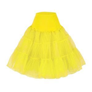 Sexy Yellow Skirt Petticoat, Fashion Yellow Skirt, Cheap Ladies Tulle Petticoat, Party Dress Petticoat, Plus Size Petticoat, #HG11256