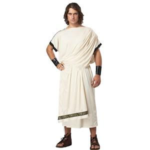 Beige Toga Costume, Greek Toga Halloween Costume, Grecian Toga Adult Costume, Men
