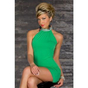 Women Sexy Clubbing Wear, Green Bare Shoulder Casual Dress, Green Dress, #N5750