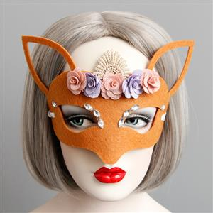 Halloween Masks, Costume Ball Masks, Masquerade Party Mask, Adult and Child Mask, Half Mask, #MS13004