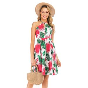 Fashion Halter Neck Dress, Fashion Backless Mini Dress, Coconut Palm Beachwear High Waist Dress, Cheap Party Dress Wholesale, Retro Dresses for Women 1960, Vintage Dresses 1950