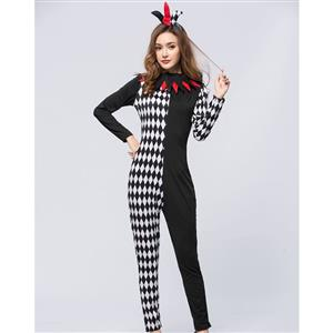 Sexy Harlequin Joker Adult Catsuit Costume N18771