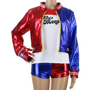 Harley Quinn Costume Women, Misfit Hipster Costume, Suicide Squad Costume, Batman Costume,  #N12706