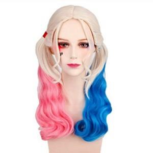 Harley Quinn Wings, Cheap Ponytail Wigs, Girls Beauty Wig, Wig for Cosplay,  Lolita Long Curly Ponytails, Halloween Costume Cosplay Wig, #MS12707