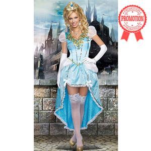 Having A Ball Costume, Sexy Blue Princess Costumes, Sexy Fairytale Princess Costume, #N8927