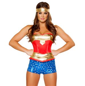 Heroine Hottie Costume, Womens Super Hero Costume, Woman Superhero Halloween Costume, #N6186